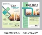 modern flat brochure layout... | Shutterstock .eps vector #481796989