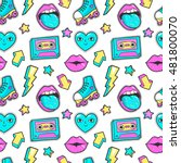seamless pattern with fashion... | Shutterstock .eps vector #481800070