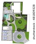 landscaping master plan  2d... | Shutterstock . vector #481809328