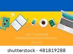 visit ukraine concept for your... | Shutterstock .eps vector #481819288