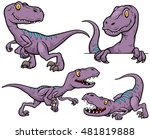 vector illustration of dinosaur ... | Shutterstock .eps vector #481819888