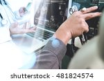 medical technology network team ... | Shutterstock . vector #481824574