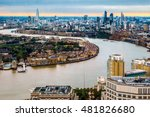 london skyline during the... | Shutterstock . vector #481826680