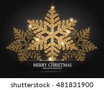elegant christmas background... | Shutterstock .eps vector #481831900