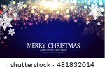 christmas background with... | Shutterstock .eps vector #481832014
