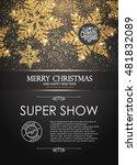 elegant christmas poster... | Shutterstock .eps vector #481832089