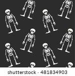 halloween seamless pattern.... | Shutterstock .eps vector #481834903