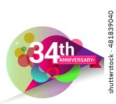 34th anniversary logo  colorful ... | Shutterstock .eps vector #481839040