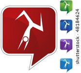 action posing stick figure... | Shutterstock . vector #48184624