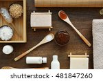 spa composition on wooden... | Shutterstock . vector #481847260