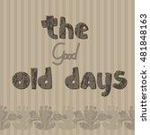 the original spelling of the... | Shutterstock .eps vector #481848163