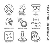 management and strategy icons... | Shutterstock .eps vector #481851469