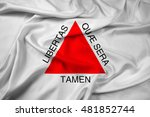 waving flag of minas gerais... | Shutterstock . vector #481852744