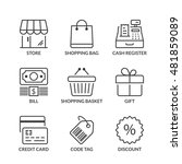 store icons set  thin line ... | Shutterstock .eps vector #481859089