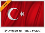 national flag of turkey  ... | Shutterstock .eps vector #481859308
