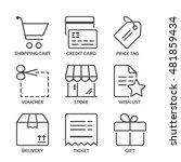 shopping icons set  thin line ...   Shutterstock .eps vector #481859434