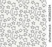 flat monochrome vector seamless ... | Shutterstock .eps vector #481860334