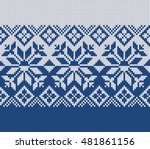 winter sweater design. fairisle ... | Shutterstock .eps vector #481861156