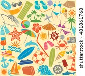 travel vacation and summer...   Shutterstock .eps vector #481861768
