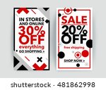 set of discount sale banner.... | Shutterstock .eps vector #481862998