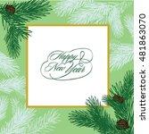 winter vector card  wedding... | Shutterstock .eps vector #481863070