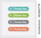 previous step. set of vector... | Shutterstock .eps vector #481863778