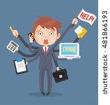 busy businessmen character.... | Shutterstock .eps vector #481866193