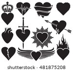 hearts vector collection | Shutterstock .eps vector #481875208