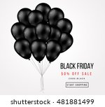 black friday sale poster with... | Shutterstock .eps vector #481881499
