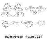 beautiful calligraphic... | Shutterstock .eps vector #481888114