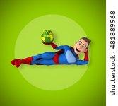 fun superhero   3d illustration | Shutterstock . vector #481889968