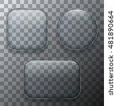 vector modern transparent glass ... | Shutterstock .eps vector #481890664