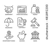 finance icons set  line  black... | Shutterstock .eps vector #481892200