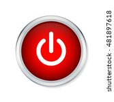 start icon  power button on red ... | Shutterstock .eps vector #481897618