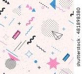 trendy geometric elements...   Shutterstock .eps vector #481898380