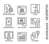 e banking icons set  line black ... | Shutterstock .eps vector #481898743