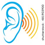 human hearing test  ear and... | Shutterstock .eps vector #481903900