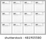 2017 Calendar Design.
