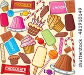 sweets seamless pattern ... | Shutterstock .eps vector #481910149