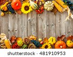 Colorful Autumn Border For...