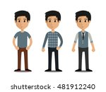 casual set characters | Shutterstock .eps vector #481912240