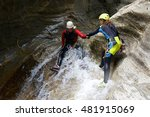 canyoning in gorgol canyon ... | Shutterstock . vector #481915069