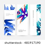 geometric background. template... | Shutterstock .eps vector #481917190