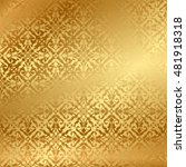 vector gold background with... | Shutterstock .eps vector #481918318