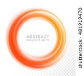 abstract transparent orange... | Shutterstock .eps vector #481919470
