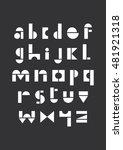 geometric alphabet design.... | Shutterstock .eps vector #481921318