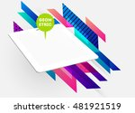realistic isolated tablet pc... | Shutterstock .eps vector #481921519