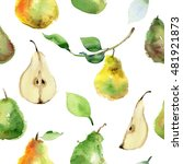 Seamless Pattern Of Ripe Pear...