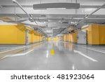 empty parking lot wall. urban ... | Shutterstock . vector #481923064