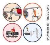 set of images . mechanic... | Shutterstock .eps vector #481927249